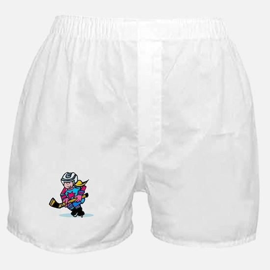 Blonde Hockey Girl Boxer Shorts