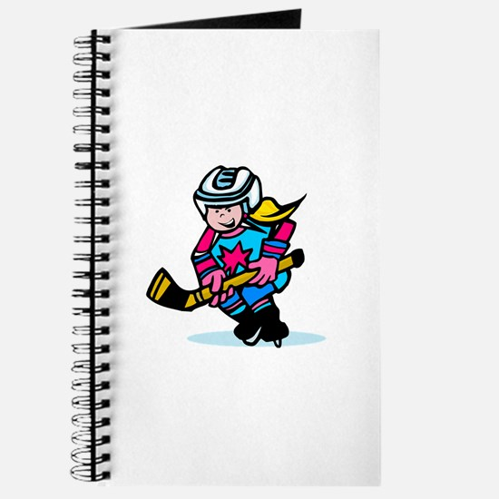 Blonde Hockey Girl Journal