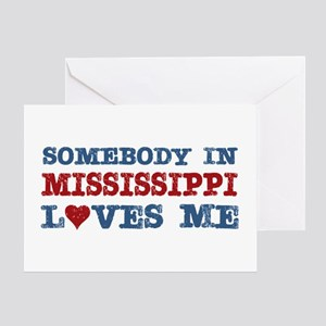 Somebody in Mississippi Loves Me Greeting Card