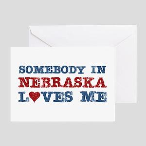 Somebody in Nebraska Loves Me Greeting Card
