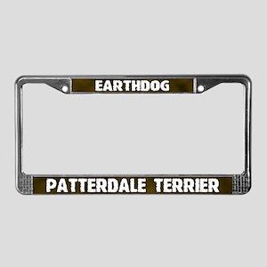 Earthdog Patterdale Terrier License Plate Frame