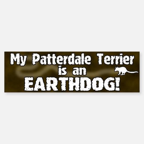 Patterdale Terrier Earthdog Bumper Bumper Bumper Sticker