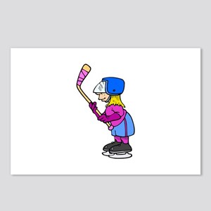 Ice Hockey Chick Postcards (Package of 8)