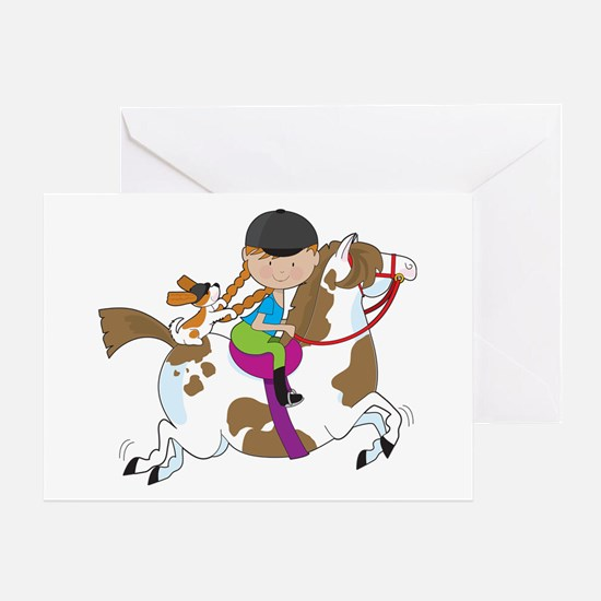 Horsey Holly Greeting Card