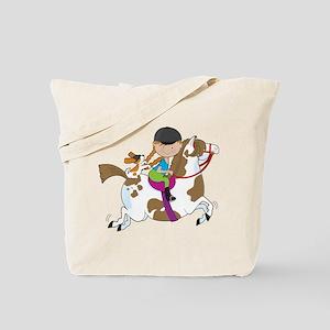 Horsey Holly Tote Bag