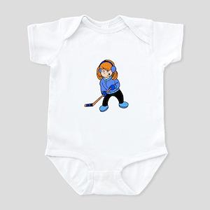 Red Hockey Girl Infant Bodysuit