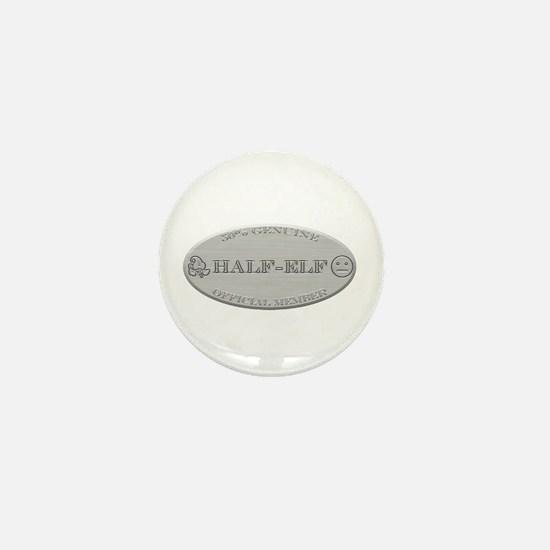 Brushed Steel - Half Elf Pride Mini Button