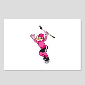 Pink Hockey Winner Postcards (Package of 8)