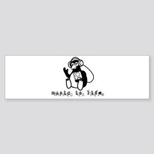 Music Is Life Bumper Sticker