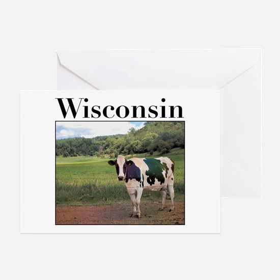 Wisconsin Cow Greeting Card