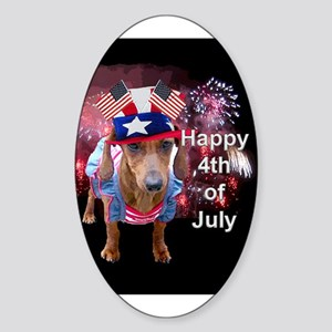 4th July Oval Sticker