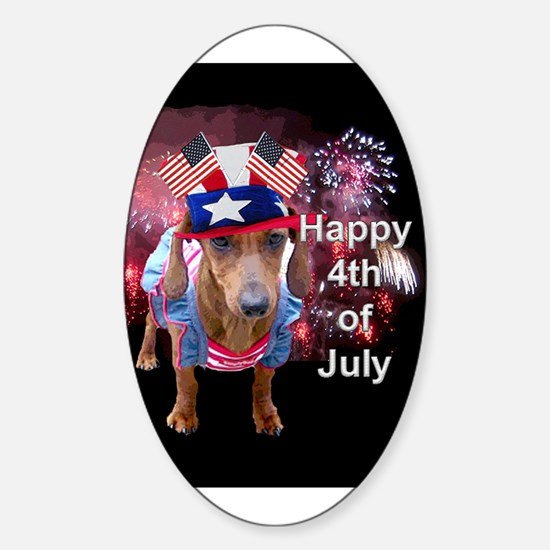 4th July Oval Decal
