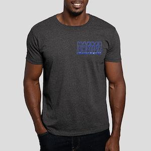 MASTER--BLUE OUTLINE/PKT Dark T-Shirt