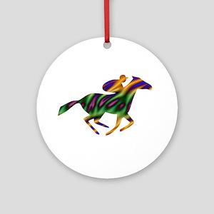 Horseback Ride Ornament (Round)