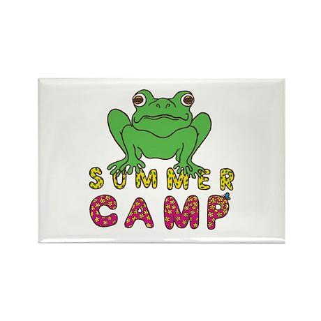 SUMMER CAMP FROG LOOK Rectangle Magnet