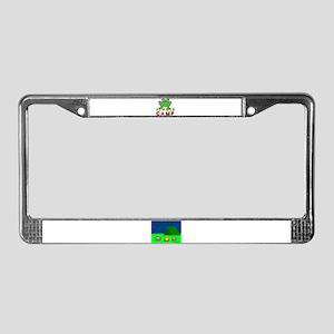 SUMMER CAMP FROG LOOK License Plate Frame