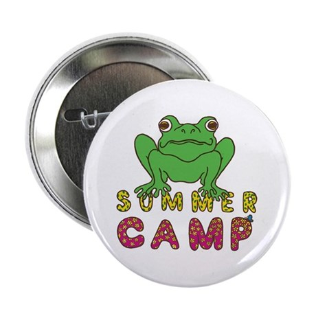 "SUMMER CAMP FROG LOOK 2.25"" Button (10 pack)"