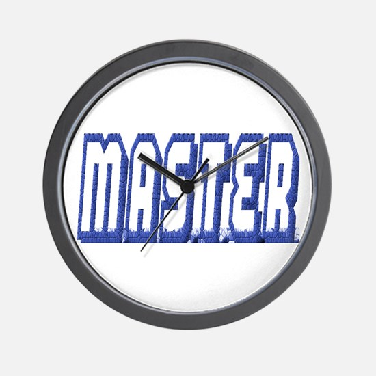 MASTER--BLUE OUTLINE Wall Clock