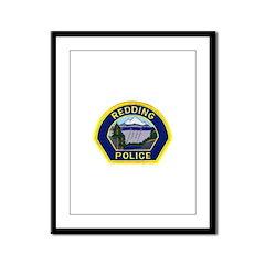 Redding Police Framed Panel Print