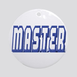 MASTER--BLUE OUTLINE Ornament (Round)