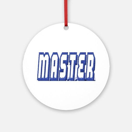 MASTER--BLUE OUTLINE Ornament (Round)