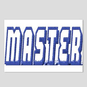 MASTER--BLUE OUTLINE Postcards (Package of 8)
