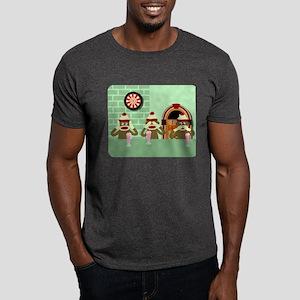 No Evil Sock Monkeys Ice Cream Dark T-Shirt