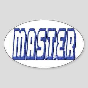 MASTER--BLUE OUTLINE Oval Sticker