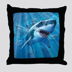 Great White 2 Throw Pillow