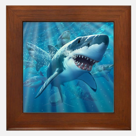 Great White 2 Framed Tile