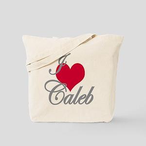 I love (heart) Caleb Tote Bag