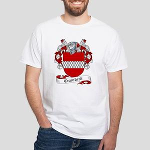 Crawford Family Crest White T-Shirt