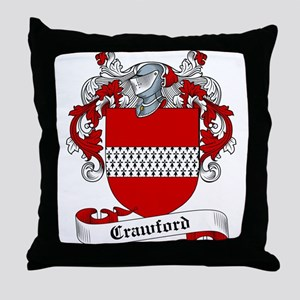 Crawford Family Crest Throw Pillow