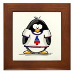 The Penguin Party Penguin Framed Tile