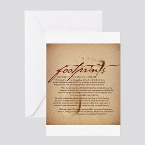 Footprints Artwork Products Greeting Card