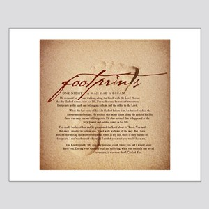 Footprints Artwork Products Small Poster