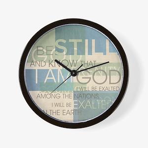 Psalm Scripture Collage Produ Wall Clock