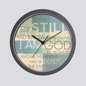 Psalm Scripture Collage Produ Wall Clock