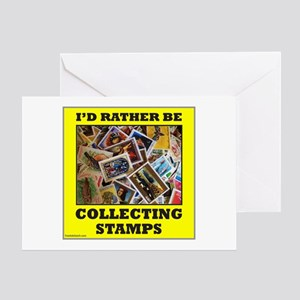 STAMP COLLECTOR Greeting Card