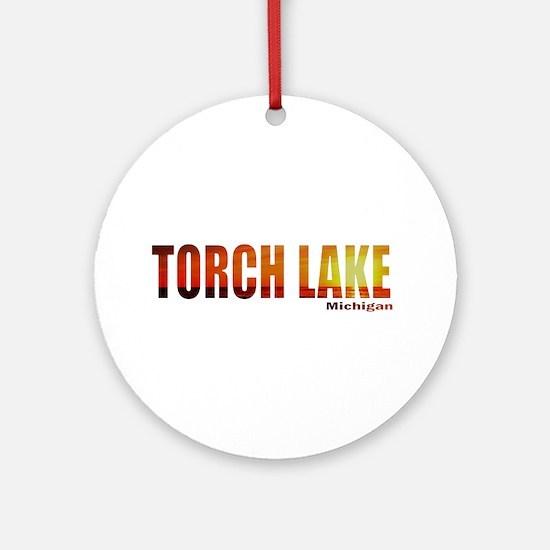 Torch Lake, Michigan Ornament (Round)