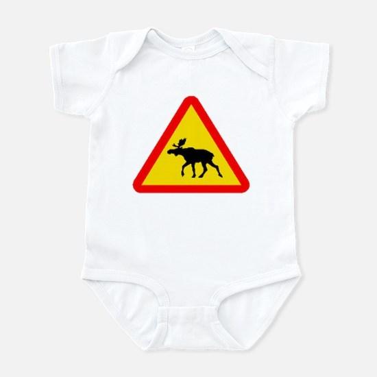 Moose Sign (Front only) Infant Bodysuit
