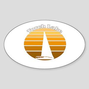 Torch Lake, Michigan Oval Sticker