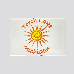 Torch Lake, Michigan Rectangle Magnet