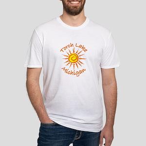 Torch Lake, Michigan Fitted T-Shirt