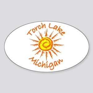 Torch Lake, Michigan Oval Sticker