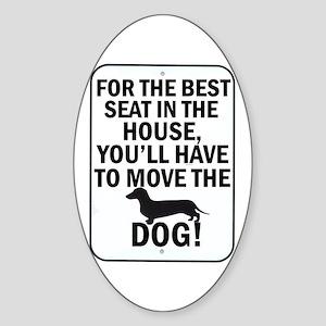 Best Seat Oval Sticker