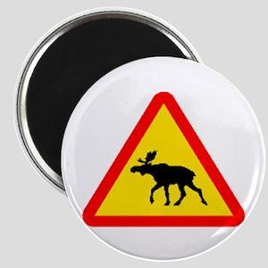 Moose Sign Magnet