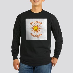 St. Joseph, Michigan Long Sleeve Dark T-Shirt