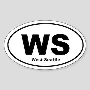 West Seattle Oval Sticker