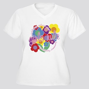 Girls Rule! Women's Plus Size V-Neck T-Shirt